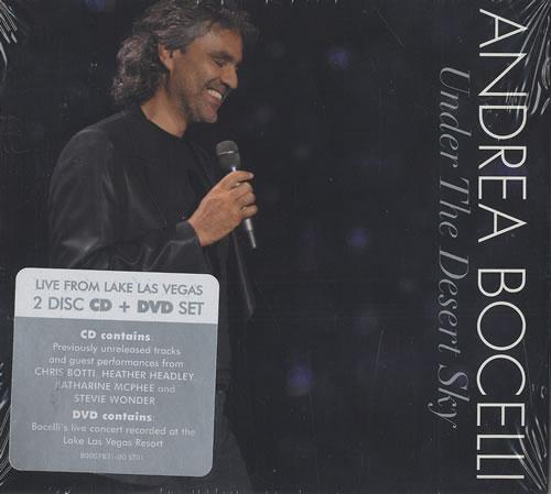Andrea Bocelli Under The Desert Sky US 2-disc CD/DVD set