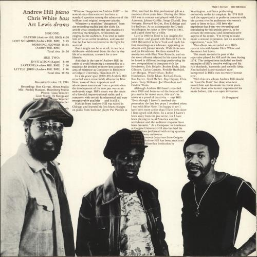 Andrew Hill Invitation vinyl LP album (LP record) Danish A2TLPIN707343