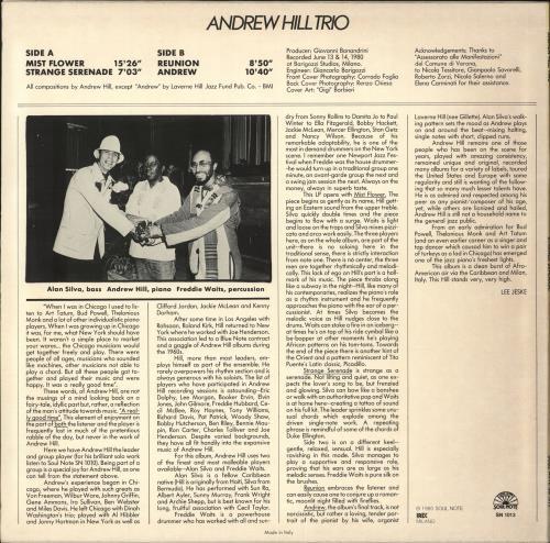 Andrew Hill Strange Serenade vinyl LP album (LP record) Italian A2TLPST707348