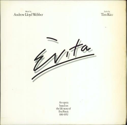 Andrew Lloyd Webber & Tim Rice Evita + Libretto 2-LP vinyl record set (Double Album) UK A6H2LEV98869