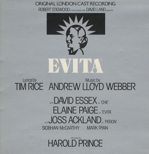 Andrew Lloyd Webber & Tim Rice Evita vinyl LP album (LP record) UK A6HLPEV374227