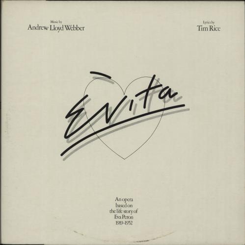Andrew Lloyd Webber & Tim Rice Evita 2-LP vinyl record set (Double Album) Dutch A6H2LEV656846