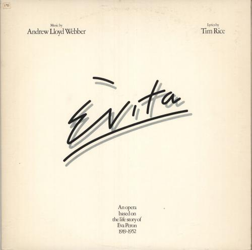 Andrew Lloyd Webber & Tim Rice Evita 2-LP vinyl record set (Double Album) UK A6H2LEV679890