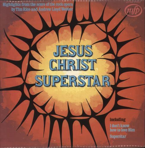 Andrew Lloyd Webber & Tim Rice Jesus Christ Superstar vinyl LP album (LP record) UK A6HLPJE748831