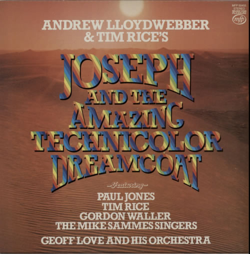 Andrew Lloyd Webber & Tim Rice Joseph And The Amazing Technicolor Dreamcoat vinyl LP album (LP record) UK A6HLPJO238614