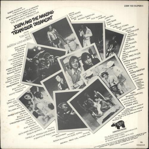 Andrew Lloyd Webber & Tim Rice Joseph And The Amazing Technicolor Dreamcoat vinyl LP album (LP record) UK A6HLPJO707487