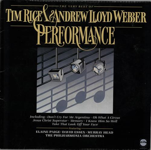 Andrew Lloyd Webber & Tim Rice Performance - The Very Best Of vinyl LP album (LP record) UK A6HLPPE240422