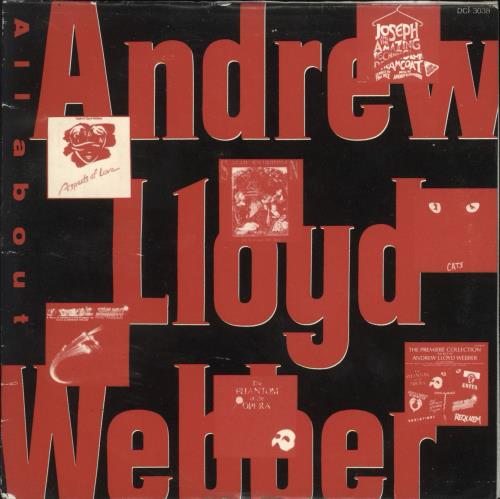 Andrew Lloyd Webber All About CD album (CDLP) Japanese ALWCDAL731907