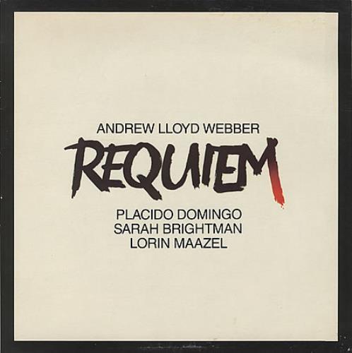 Andrew Lloyd Webber Requiem vinyl LP album (LP record) UK ALWLPRE398454