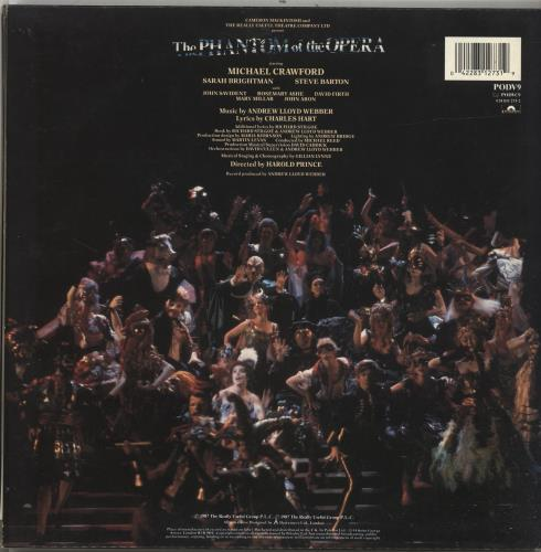 Andrew Lloyd Webber The Phantom Of The Opera - 1 Sticker 2-LP vinyl record set (Double Album) UK ALW2LTH697309