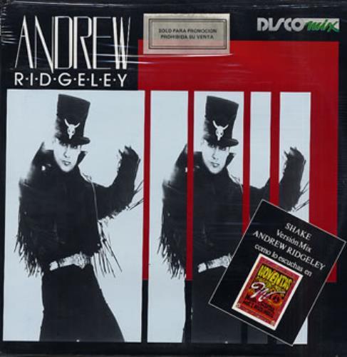 "Andrew Ridgeley Muevete - Shake - sealed 12"" vinyl single (12 inch record / Maxi-single) Mexican RDG12MU199950"