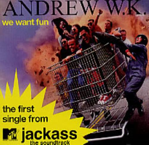 "Andrew W.K. We Want Fun CD single (CD5 / 5"") US AWKC5WE225348"