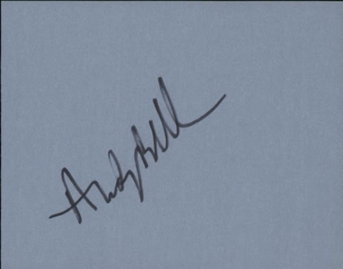 Andy Bell (90s) Page From An Autograph Book memorabilia UK FZNMMPA606851