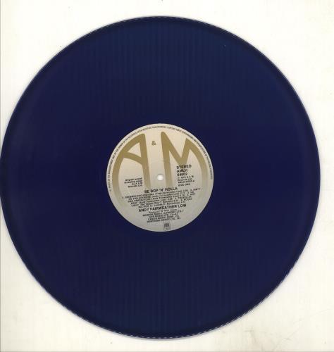 Andy Fairweather-Low Be Bop 'N' Holla - Blue Vinyl vinyl LP album (LP record) UK AFLLPBE298765