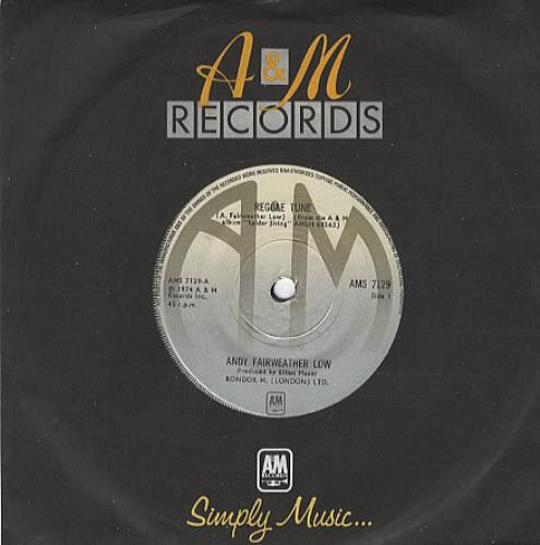 "Andy Fairweather-Low Reggae Tune 7"" vinyl single (7 inch record) UK AFL07RE334588"