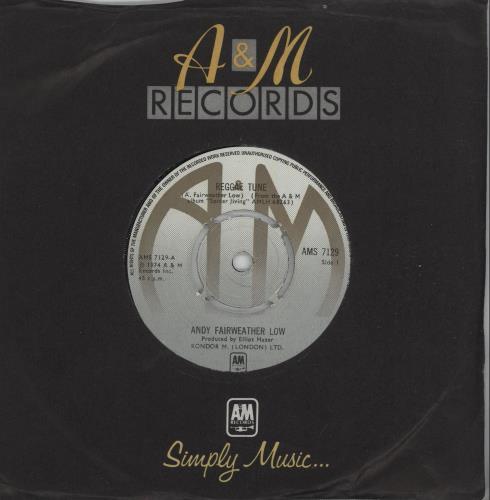 "Andy Fairweather-Low Reggae Tune 7"" vinyl single (7 inch record) UK AFL07RE667931"
