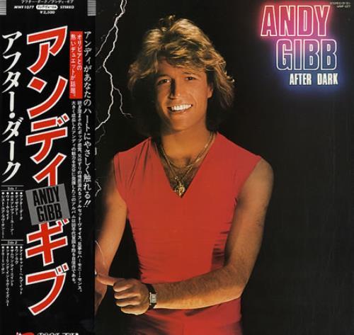 Andy Gibb After Dark vinyl LP album (LP record) Japanese AGILPAF212731