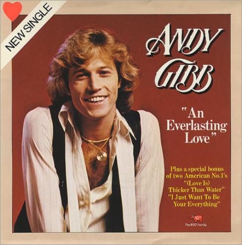 "Andy Gibb An Everlasting Love 7"" vinyl single (7 inch record) UK AGI07AN116477"