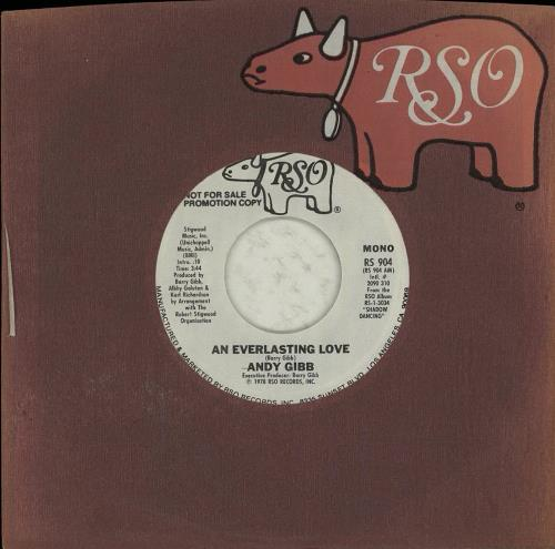 "Andy Gibb An Everlasting Love 7"" vinyl single (7 inch record) US AGI07AN119825"