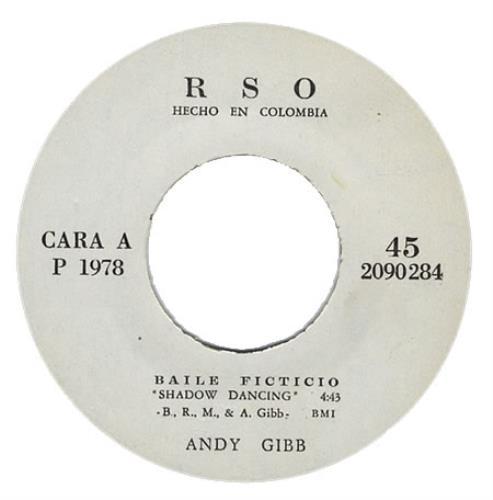 "Andy Gibb Baile Ficticio 7"" vinyl single (7 inch record) Colombian AGI07BA402917"