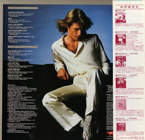 Andy Gibb Shadow Dancing vinyl LP album (LP record) Japanese AGILPSH212732