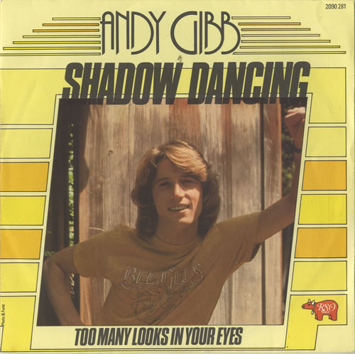 "Andy Gibb Shadow Dancing 7"" vinyl single (7 inch record) French AGI07SH567278"