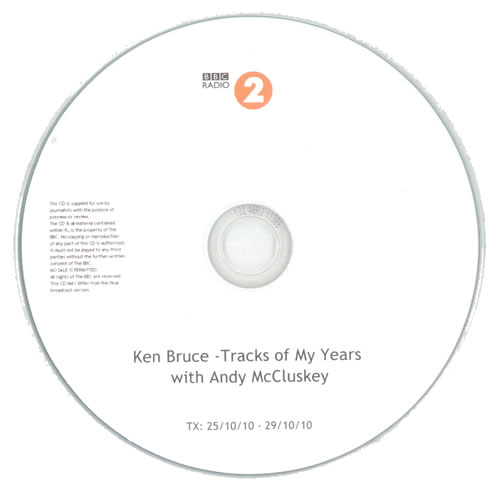 Andy McCluskey Ken Bruce - Tracks Of My Years CD-R acetate UK DYMCRKE539946
