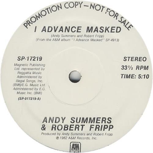 "Andy Summers & Robert Fripp I Advance Masked 12"" vinyl single (12 inch record / Maxi-single) US A1E12IA35600"