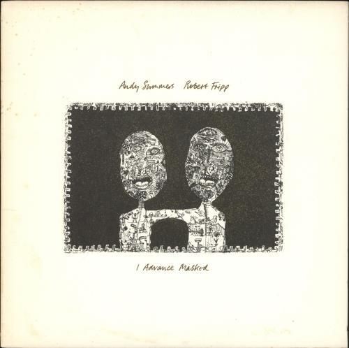 Andy Summers & Robert Fripp I Advance Masked vinyl LP album (LP record) US A1ELPIA717053