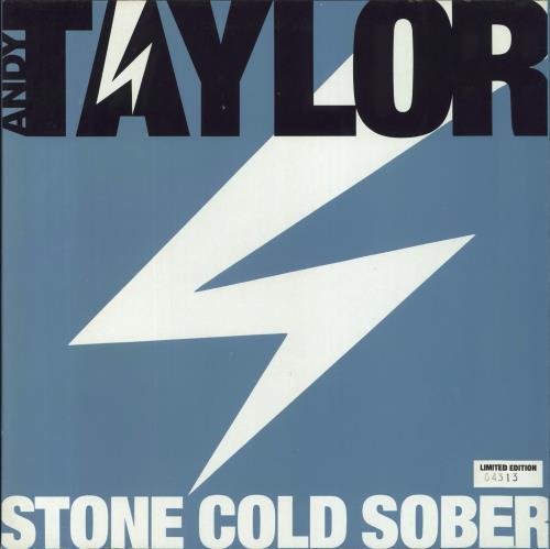"Andy Taylor Stone Cold Sober 12"" vinyl single (12 inch record / Maxi-single) UK DDA12ST12797"