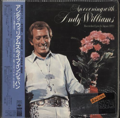 Andy Williams An Evening With Andy Williams 2-LP vinyl record set (Double Album) Japanese AWI2LAN747538