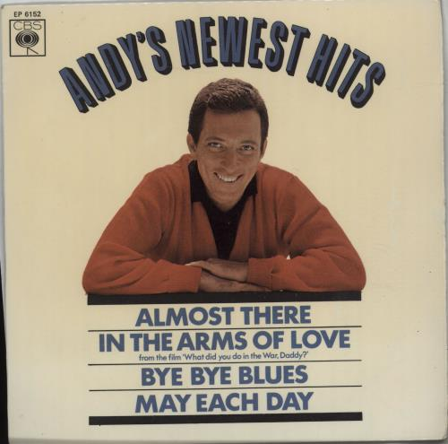"""Andy Williams Andy's Newest Hits 7"""" vinyl single (7 inch record) UK AWI07AN676177"""