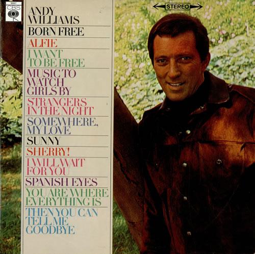 Andy Williams Born Free Uk Vinyl Lp Album Lp Record 476024