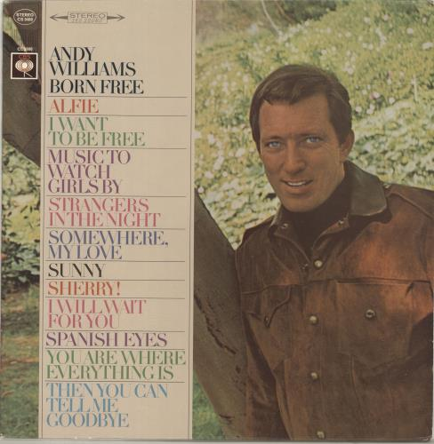 Andy Williams Born Free vinyl LP album (LP record) US AWILPBO694041