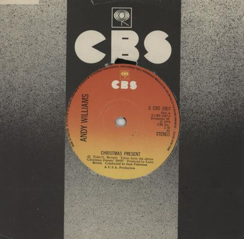 """Andy Williams Christmas Present 7"""" vinyl single (7 inch record) UK AWI07CH760103"""