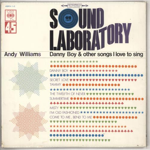 Andy Williams Danny Boy And Other Songs I Love To Sing - Sound Laboratory vinyl LP album (LP record) Japanese AWILPDA738007