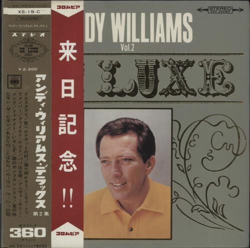 Andy Williams De Luxe Vol. 2 vinyl LP album (LP record) Japanese AWILPDE678949