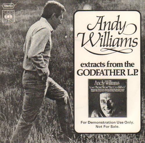 """Andy Williams Extracts From The Goldfather LP 7"""" vinyl single (7 inch record) UK AWI07EX643129"""