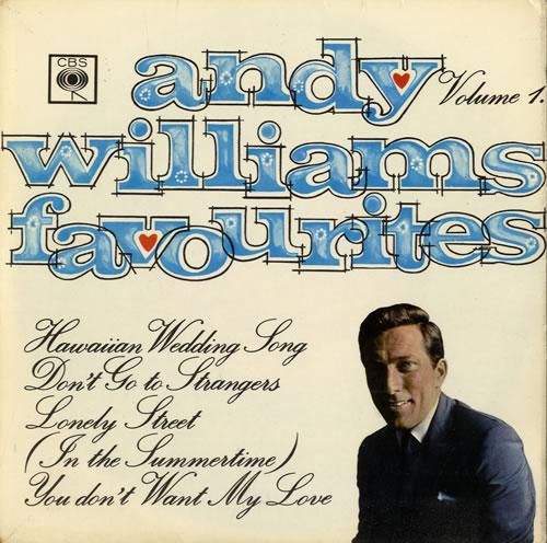 "Andy Williams Favourites Vol. 1 EP - P/S 7"" vinyl single (7 inch record) UK AWI07FA556003"