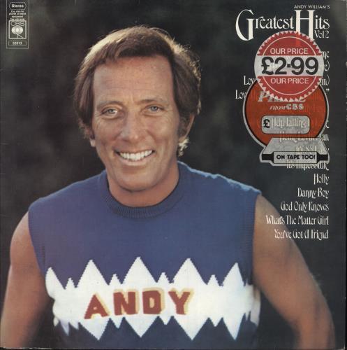 Andy Williams Greatest Hits Volume 2 - 2nd vinyl LP album (LP record) UK AWILPGR748262