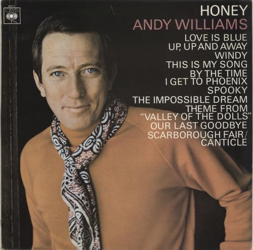 Andy Williams Honey vinyl LP album (LP record) UK AWILPHO694197