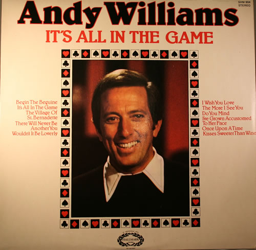 Andy Williams It's All In The Game vinyl LP album (LP record) UK AWILPIT563761