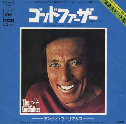 """Andy Williams Love Theme From The Godfather - English Version 7"""" vinyl single (7 inch record) Japanese AWI07LO371148"""