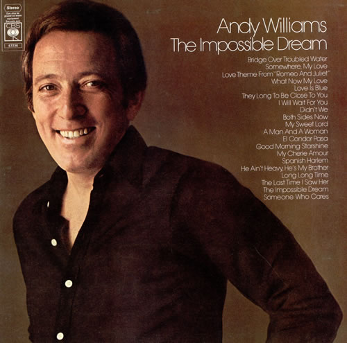 Andy Williams The Impossible Dream 2-LP vinyl record set (Double Album) UK AWI2LTH476023
