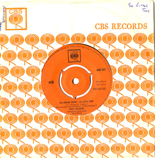 """Andy Williams The Peking Theme - So Little Time 7"""" vinyl single (7 inch record) UK AWI07TH622139"""