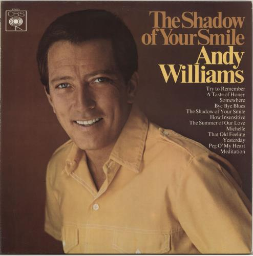 Andy Williams The Shadow Of Your Smile - 1st - Stereo vinyl LP album (LP record) UK AWILPTH693937