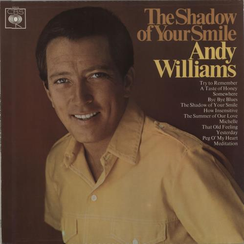 Andy Williams The Shadow Of Your Smile - WOC vinyl LP album (LP record) UK AWILPTH674050