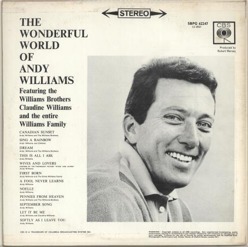 Andy Williams The Wonderful World Of Andy Williams vinyl LP album (LP record) UK AWILPTH693833