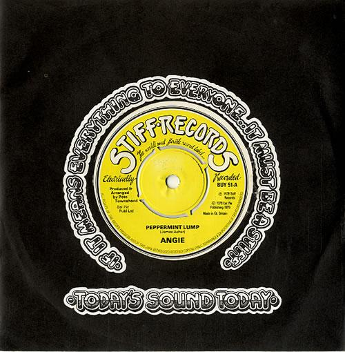"Angie Peppermint Lump 7"" vinyl single (7 inch record) UK A-G07PE129965"