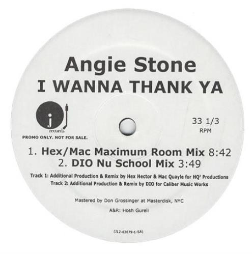 "Angie Stone I Wanna Thank Ya 12"" vinyl single (12 inch record / Maxi-single) US GIE12IW409720"